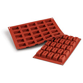 Silikomart SF092 Baking Mold, Lingotto, Silicone, Make 25 Pieces by