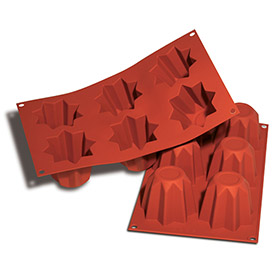 Silikomart SF095 Baking Mold, Volcano, Silicone, Makes 24 Pieces by