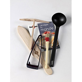 Krampouz SK0065 Crepe Maker Kit For CEBPB2, 2 Spreaders, Ladle, Spatula, Brush, Water Container by