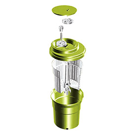 Eurodib SP012 Small Salad Spinner 2-1/2 Gallons, Up To 3 Heads of Lettuce, Folding Handle,... by