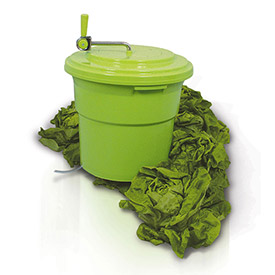 Eurodib SP027 Large Salad Spinner, 5 Gallons, Up To 6 8 Heads of Lettuce, Folding Handle,... by