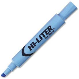 Avery Hi-Liter Desk Style Highlighter, Chisel Tip, Light Blue Ink, Dozen by