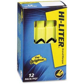 Avery Hi-Liter Desk Style Highlighter, Chisel Tip, Fluorescent Yellow Ink, Dozen by
