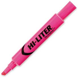 Avery Hi-Liter Desk Style Highlighter, Chisel Tip, Fluorescent Pink Ink, Dozen by