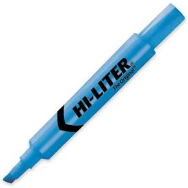 Avery Hi-Liter Desk Style Highlighter, Chisel Tip, Fluorescent Blue Ink, Dozen by