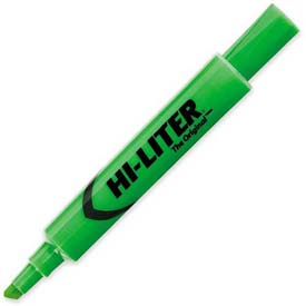 Avery Hi-Liter Desk Style Highlighter, Chisel Tip, Fluorescent Green Ink, Dozen by