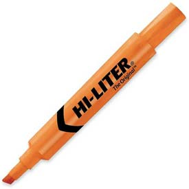 Avery Hi-Liter Desk Style Highlighter, Chisel Tip, Fluorescent Orange Ink, Dozen by