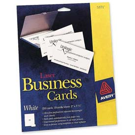 "Avery® Business Card, 2"" x 3-1/2"", White, 250 Cards/Pack"