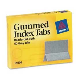 "Avery Gummed Index Tabs, 1"" x 1-3/16"", Gray, 50 Tabs/Pack by"
