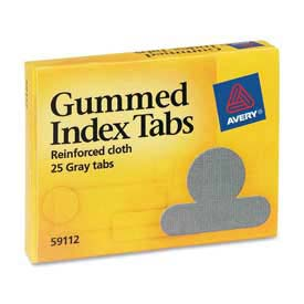 "Avery Gummed Index Tabs, 1/2"" Tab Extension, Gray, 25 Tabs/Pack by"