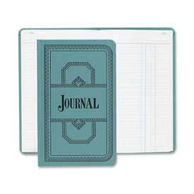 "Boorum & Pease Account Book, Journal Ruled, 7-1/2"" x 12-1/8"", Blue Cover, 150 Pages/Pad by"