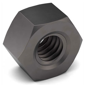 1 1/2-6 Hex Nut Grade 5 Carbon Steel Plain Coarse Package of 5 by
