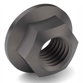 7/8-9 Hex Flange Lock Nut Grade G Carbon Steel Phos & Oil Coarse Package of 10 by