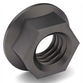 1-8 Hex Flange Nut Grade 8 Carbon Steel Plain Coarse Package of 5 by