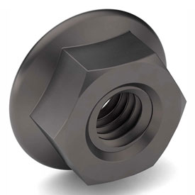 3/8-24 Serrated Hex Flange Nut Case Hardened Steel Zinc Clear Trivalent Fine Package of 100 by