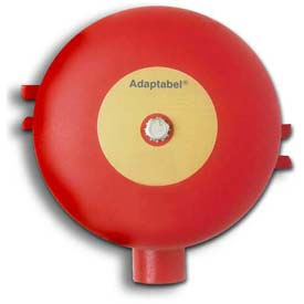"Edwards Signaling, 438D-6N5-R, Vibrating Fire Alarm Bell 6"", 120 V, 60 HZ, Red Diode"