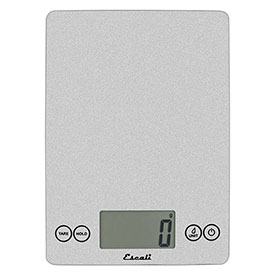 Escali 157SS Arti Glass Kitchen Scale, 15lb x 0.1oz/7000g x 1g, Silver by