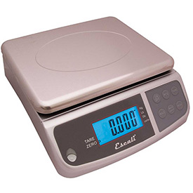 Escali M6630 M-Series Digital Kitchen Scale, 66lbs x 0.2oz/30kg x 5kg, Stainless Steel by