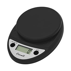 Escali P115CH Primo Digital Kitchen Scale, 11lb x 0.1oz/5000g x 1g, Black by