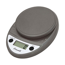 Escali P115M Primo Digital Kitchen Scale, 11lb x 0.1oz/5000g x 1g, Metallic by