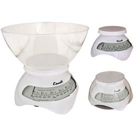 Dial Scale 6.6lb x 1oz./3000g x 1g White With 2 Liter Removable Bowl