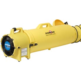 """Ramfan 8"""" Confined Space Blower UB20 with 15' Duct ED7015 1/3 HP 980 CFM"""
