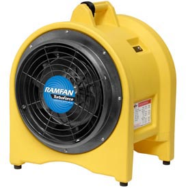 "Ramfan 12"" Confined Space High Volume Blower/Exhauster UB30 5/8 HP 2420 CFM"