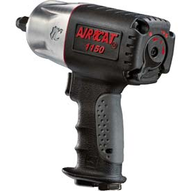 "AIRCAT 1150 1/2"" Black Composite Twin Hammer Impact Wrench by"