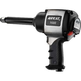 "AIRCAT 1680-6 3/4"" Xtreme-Duty Aluminum Twin Hammer Impact Wrench W/ 6"" Extended Anvil by"