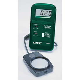 "Extech 401027 Pocket-Size Foot Candle Light Meter, Battery, 1""W by"