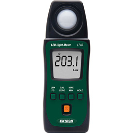 """Extech LT40 LED Light Meter, Battery, Case Included, 1""""W by"""