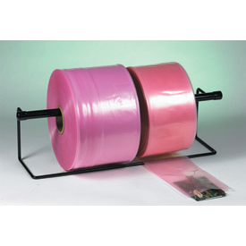 "Anti-Static Poly Tubing 12"" x 2150' 2 Mil Pink Roll"