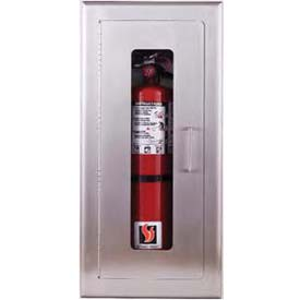 "Elite Series Fully-Recessed Full Glass Extinguisher Cabinet, 9-1/2""W x 24""H x 6""D"