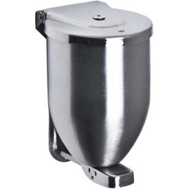 A&J Washroom Powder Soap Dispenser U115, 32 Oz, Stainless Steel, Surface Mounted by