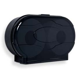 "A&J Washroom Toilet Tissue Dispenser UP832, Dual, 10"" ABS JRT, Surface Mounted, Non-Controlled"