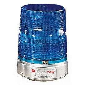 Federal Signal 131ST-120B Strobe, 120VAC, Pipe Mount, Blue