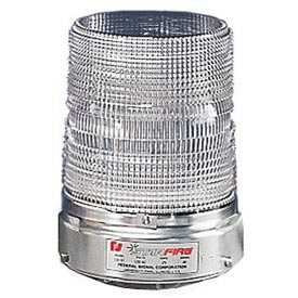 Federal Signal 131ST-120C Strobe, 120VAC, Pipe Mount, Clear