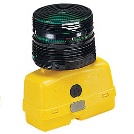 Federal Signal BPL26ST-G Strobe light, battery-poweRed 12VDC, Green