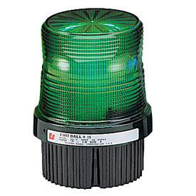 Federal Signal FB2PST-012-024G Strobe, 12-24VDC, pipe/surface mount, Green