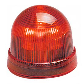 Federal Signal LP2-120R Steady Burn Light, 120VAC, Red