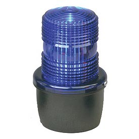 Federal Signal LP3M-012-048B Strobe light, male pipe mount, 12-48VDC, Blue