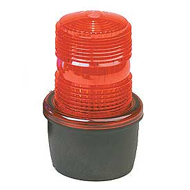Federal Signal LP3M-012-048R Strobe light, male pipe mount, 12-48VDC, Red
