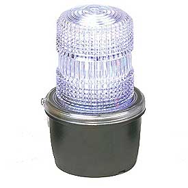 Federal Signal LP3M-120C Strobe light, male pipe mount, 120VAC, Clear