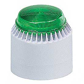 Federal Signal LP7-18-30G Strobe/sounder, 18-30VDC, Green
