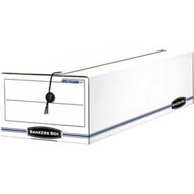 "Fellowes 00022 Liberty® Check And Form Boxes, 23-3/4""L x 9-3/4""W x x 6-1/4""H, White/Blue - Pkg Qty 12"
