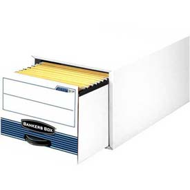 Fellowes 00312 Stor/Drawer® Steel Plus™, Legal Box, 25-1/2x17x11-1/2, White/Blue - Pkg Qty 6