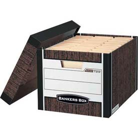 "Fellowes 00725 R-Kive®, Letter/Legal Box, 16-1/2""L x 12-3/4""W x 10-3/8""H, Woodgrain - Pkg Qty 12"