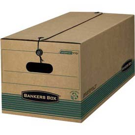 "Fellowes 00774 Recycled Stor/File™, Legal Box, 24-1/8""D x 15-1/4""W x 10-3/4""H, Kraft/Green - Pkg Qty 12"