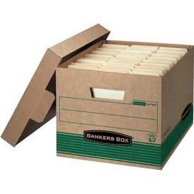 Fellowes 12770 Recycled Stor/File™, Letter/Legal Box, 12-1/2x16-1/4x10-1/4, Kraft/Green - Pkg Qty 12