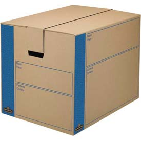 "Buy Fellowes 0062901 Smoothmove Moving & Storage, Large Box, 25""L x 18-1/4""W x 19""H, Kraft/Blue Package Count..."